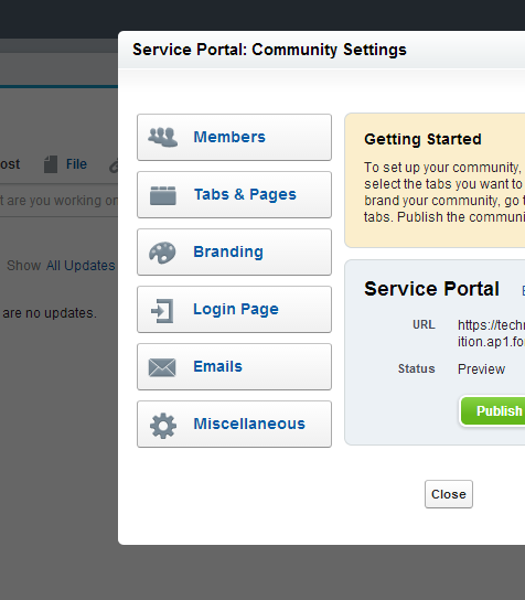 community service portal