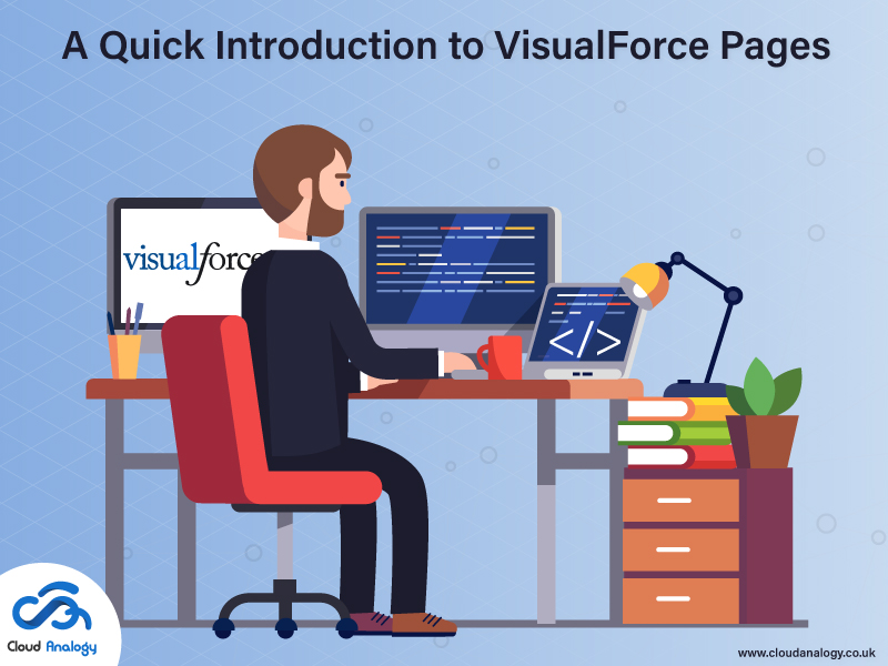 Conclusion VisualForce is a component-based user interface framework that allows users to create a customized and effective web interface. The framework is a component of Salesforce's Force.com that is built to streamline the process of developing and deploying cloud-based applications and websites. Developers define VisualForce pages with VisualForce Markup and VisualForce Controller. The VisualForce Markup handles what elements or components should appear on the page and how should they appear.
