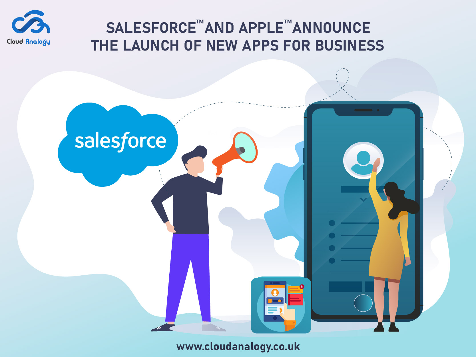 Salesforce and Apple announced the launch of new apps for business